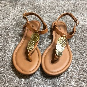 Gold plated sandals